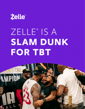 The Basketball Tournament (TBT) Zelle Case Study Image