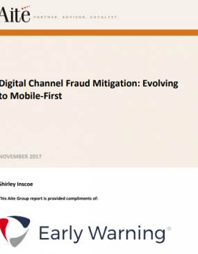 Whitepaper cover - Digital Channel Fraud Mitigation: Evolving to Mobile-First