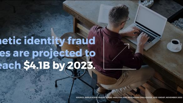 Synthetic identity fraud losses are projected to reach $4.1B by 2023